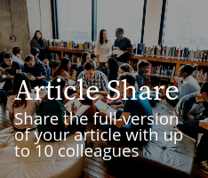 Article Share: Share the full-version of your article with up to 10 colleagues