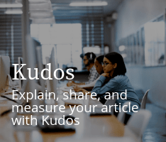 Kudos: Explain, share, and measure your article with Kudos