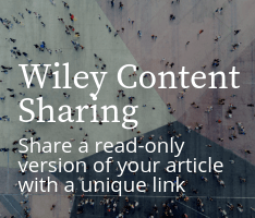 Wiley Content Sharing: Share a read-only version of your article with a unique link